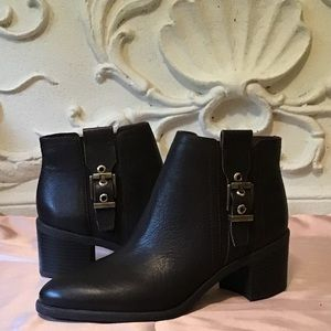 Franco Sarto Side Detail Chocolate Ankle Bootie